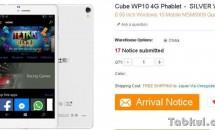 DSDS/6.98型Winスマホ『Cube WP10』は10~11月に発売か、スペック表・価格・対応周波数