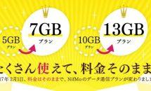 NifMo、料金そのまま2/1から月間データ通信量UPを発表―制限値も変更