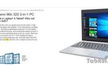 未発表LTE対応10.1型2in1タブレット『Lenovo Miix 320』がフライング掲載、新旧スペック