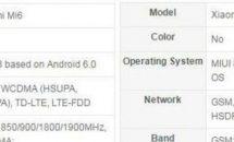 Xiaomi Mi 6 / Mi 6 Plus のスペック表リークか、5.15型/5.7型でRAM6GBや対応周波数ほか