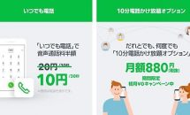 LINEモバイル、通話料半額「いつでも電話」とオプション「10分電話かけ放題」・キャンペーンを発表