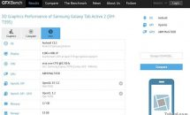 Galaxy Tab Active 2 (SM-T395)がベンチマークGFXBenchに登場、スペック