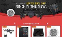最大88%OFFの「Banggood 新年セール」開始、Xiaomiなど2機種クーポンも配布中