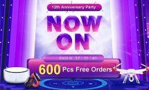 Banggood 12周年記念セール、さらにXiaomi製スマホやChuwi製タブレット・周辺機器など大量クーポン