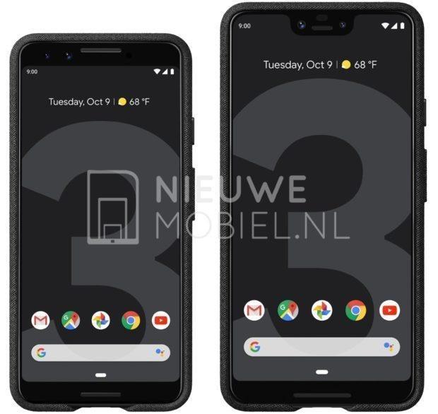 Google-Pixel-3-Pixel-3-XL-renders-from-NieuweMobiel