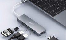 10/17まで4599円が2299円に、USB-Cハブ『AUKEY CB-C72』に半額クーポン