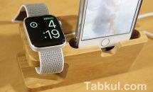竹製iPhone/Apple Watch充電スタンドが830円に!独占クーポンと開封レビュー #Banggood