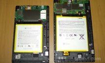 Fire HD 8 タブレットの背面パネルを外す方法、バッテリー容量を確認