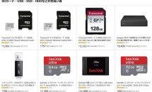 microSDカードや外付けディスク、SSDにPC向けRAMなどが特集ページで特価に(プライムデー)