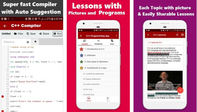Android app com codetoinvent malik cpluspro