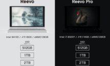 8型UMPC「Reevo」登場、最大2TB SSDや筆圧ペンなどスペック・価格