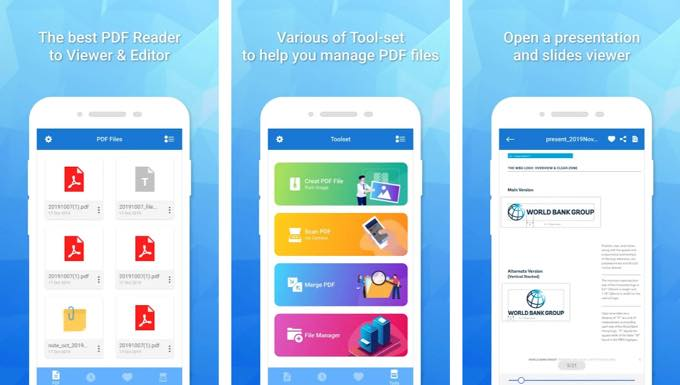 Android app com tohsoft pdfreader pro