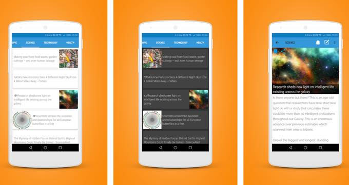 Android app com bart newsfeeds