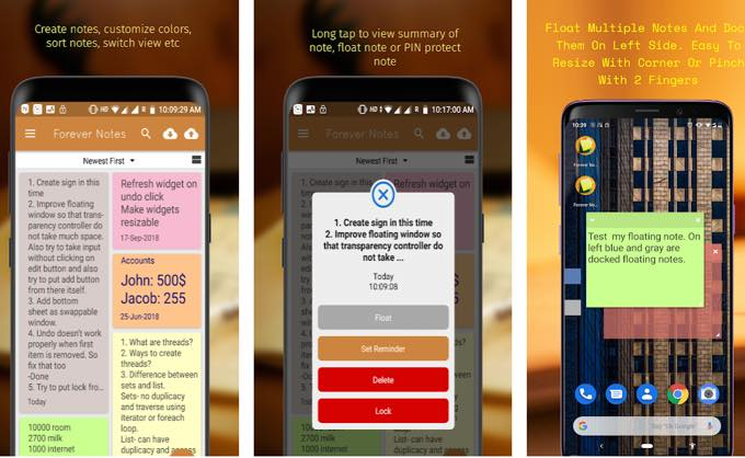 Android app forevernotespro com