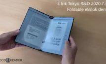 本感覚な折り畳みE Inkタブレットの最新デモ動画、手書き対応