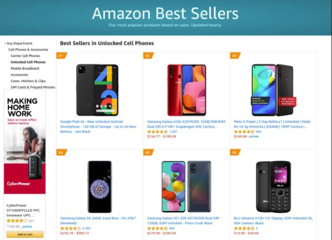 Google pixel 4a becomes amazons best selling