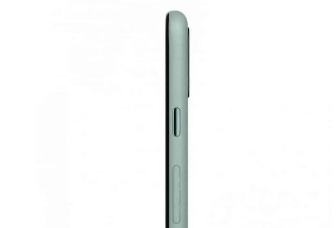 Pixel5 mintgreen side