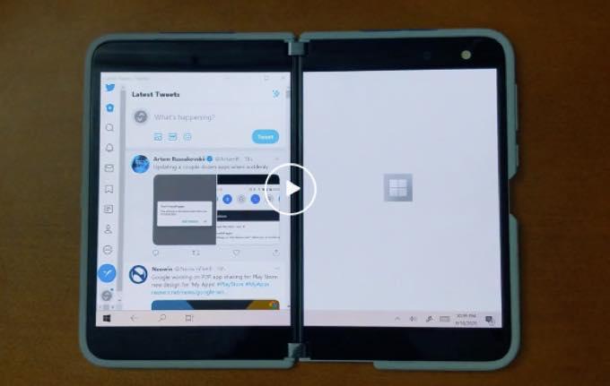 Surface Duo Windows 10 duetDisplay
