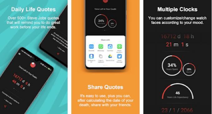 Android app com aezowie deathclockpro