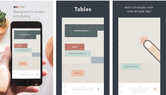 Android app com saltycrackers tables