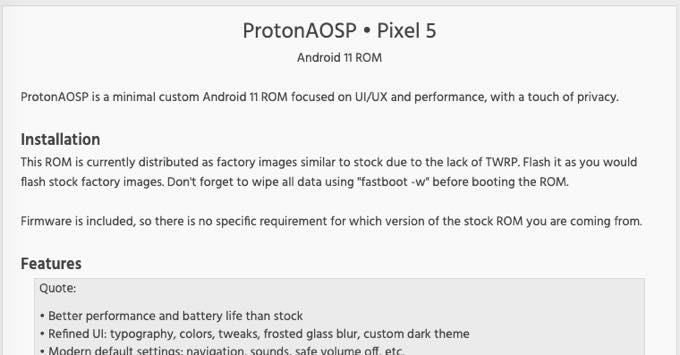 Pixel5 ProtonAOSP