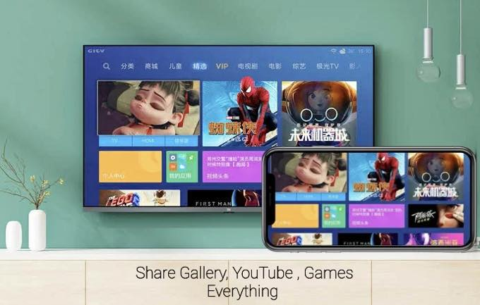 Android app screen mirroring of all tv