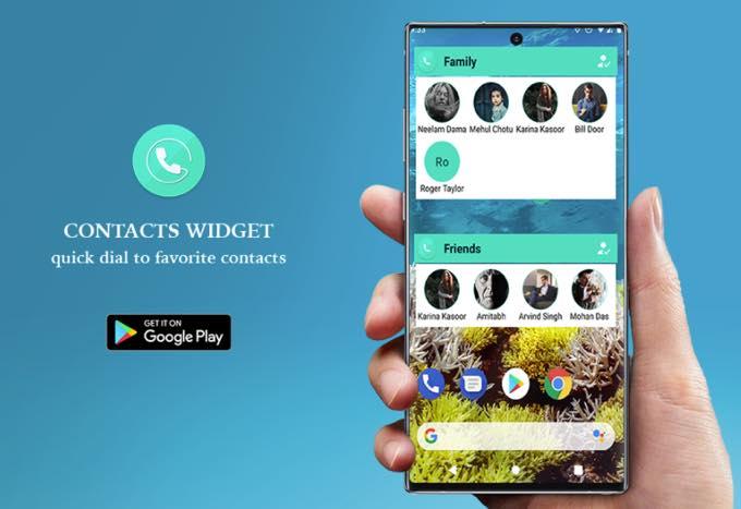 Android app com light contactswidget