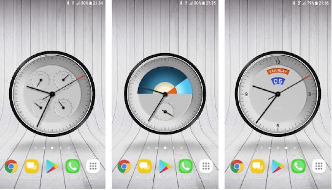 Android app com wallpaperclockpro