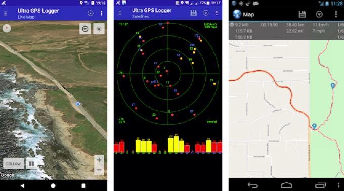 Android app com flashlight ultra gps logger