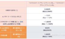 au新プランは月3GB/月額990円、LINEMO対抗のスマホスタートプラン(フラット)発表