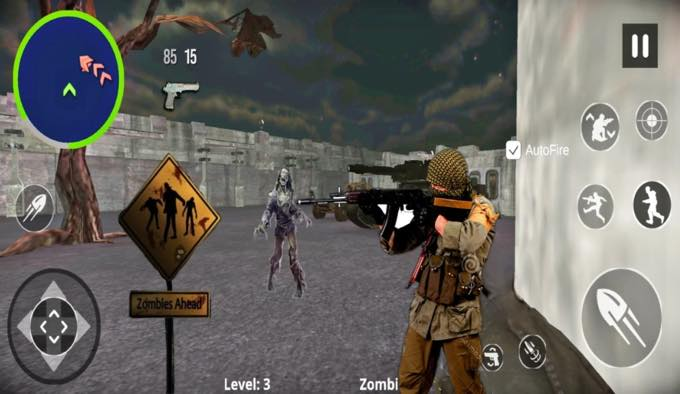 Android app com brightgames zombie fighters games