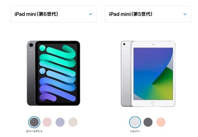 IPadmini5 vs iPadmini6